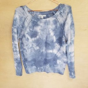 American Eagle Outfitters Blue Tie Dye Sweater
